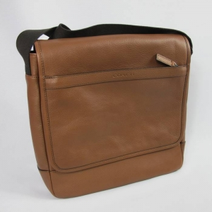USA : กระเป๋า COACH MENS F71346 GMD0T BROWN CAMDEN LEATHER SHOULDER CROSSBODY
