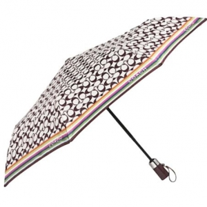 ร่มกันฝน COACH Signature Legacy Stripe Umbrella GREAT GIFT F62339 SKHMC