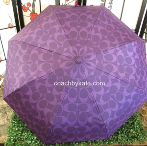 ร่มกันฝน COACH F62958 SV/VI PF EMBOSSED SIGNATURE LIQUID GLOSS UMBRELLA VIOLET