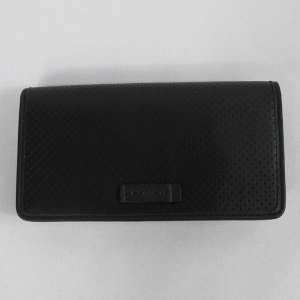 USA : กระเป๋าใส่ Smart Phone COACH F63234 BLK MEN'S Black Perforated Leather Wallet Cell Phone Holder