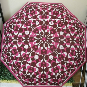 ร่มกันฝน COACH F66637 SVMER Bordeaux Retractable Umbrella