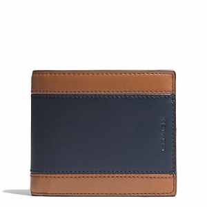 กระเป๋าสตางค์ COACH 74792 AHE SL/BK HERITAGE colorblock leather Wallet compact ID case holder