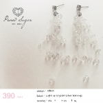 Light up Crystal Silver Earrings