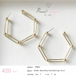 Golden Geometry Hoop Earrings(5cm)