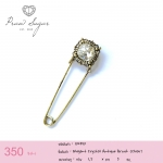 Elegant Antique Brooch (Clear)