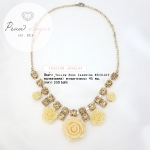 Yellow rose charming Necklace