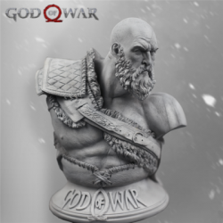 Kratos : GOD OF WAR 1/3 Resin Bust
