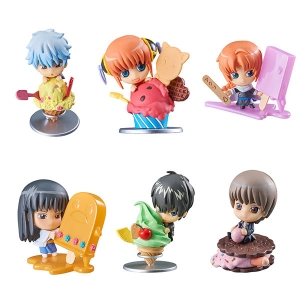 Petit Chara Land Gintama Gin-san's Ice Cream Shop Set of 6 (ของแท้)