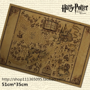 Harry Potter - Wizarding World Map (ของแท้)