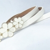 Leather belt - White