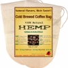 P&F Coffee Filters(2 Pack)Reusable Cold Brew Coffee Filter - FULL TASTE - NO HARMFUL CHEMICAL IN YOUR COLD BREW COFFEE OR YOUR DRIP COFFEE ANYMORE. 6.5 x 10 inches - Pure Hemp Fabric - Best Choice Safety Health - Fine Mesh Strainer for Cold Brewed Iced Co