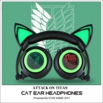 หูฟังแมว Attack on titan cat ear headphone