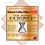 Reusable Coffee Filters for Chemex ,No Harmful Chemical ,All Natural ,2 Pack of P&F Square Shaped Filters
