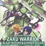 1/100 SeedD 6: Zaku Warrior+Blaze Wizard &Gunner Wizard