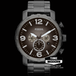นาฬิกา Fossil รุ่น JR1437 Nate Chronograph Stainless Steel Watch - Smoke