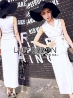 Lady Carry Smart Casual Double-breasted Suit Dress