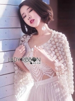 Lady Ribbon's Made Lady Gabby Flower Lace Pearl Embroidered Jacket