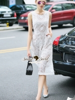 Seoul Secret Say's... Classicly Ivory Lace Long Playsuit